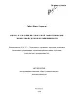 Оценка и управление совокупной эффективностью лизинговой сделки в  Автореферат диссертации по теме Оценка и управление совокупной эффективностью лизинговой сделки в промышленности