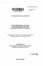 Реформирование системы управления персоналом в промышленных  Реформирование системы управления персоналом в промышленных холдингах тема автореферата по экономике скачайте бесплатно автореферат