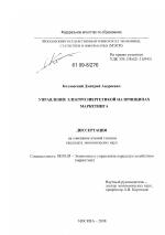 Управление электроэнергетикой на принципах маркетинга тема  Управление электроэнергетикой на принципах маркетинга тема диссертации по экономике скачайте бесплатно в экономической библиотеке